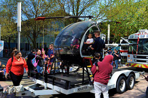 Helicopter, Community, Event, Police Officer, People
