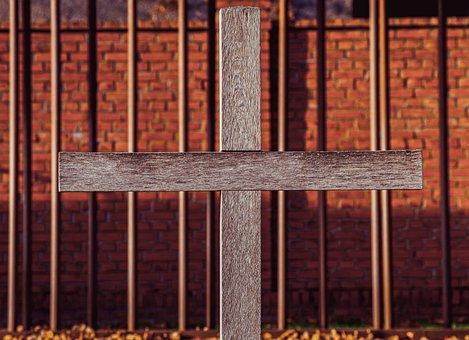 Wall, Cross, Christen, Prison, Tracking, Memorial