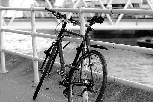 Bicycle, London, White Black, Freedom, Bike, Road