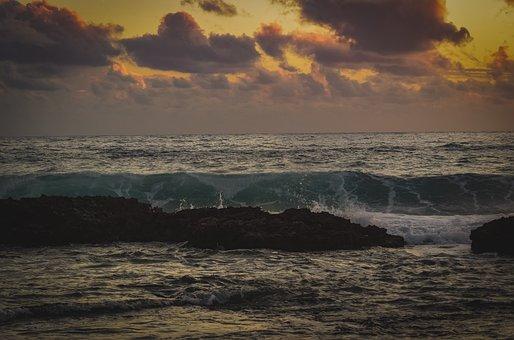 Rocky Coast, Wave, Sky, Clouds, Nature, Sea, Landscape
