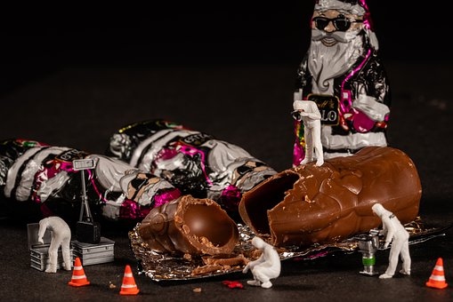 Christmas, Crime, Scene, Santa Claus