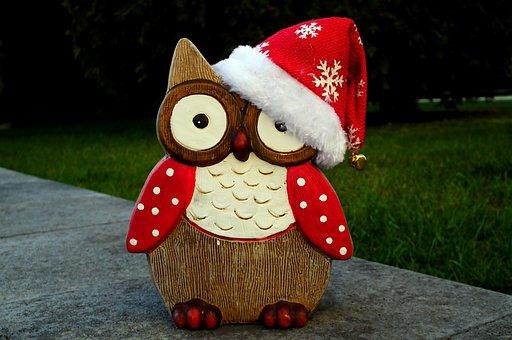 Sowa, Christmas, Ornament, December