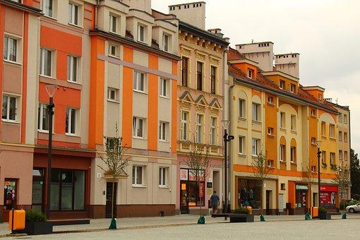 City, Poland, Oława, The Market, Architecture