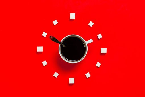 Time, Management, Cup, Spoon, Clock, Coffee, Food