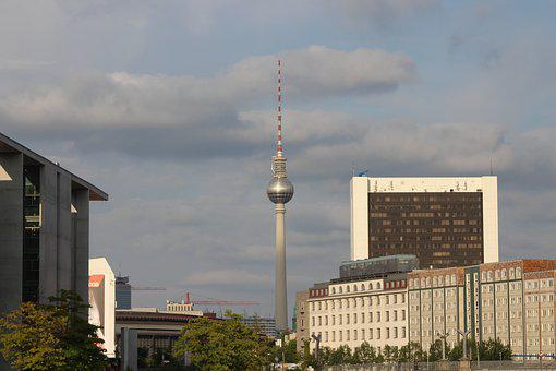 Berlin, Germany, Capital, Tower, Televesion Tower, Tv