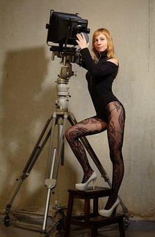 Tripod, Camera, Vintage, Retro, Photo, Lens