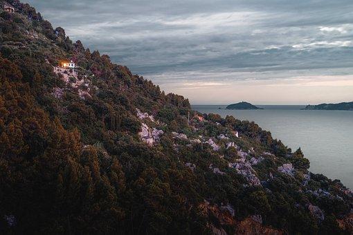 Tuscany, Sea, Tellaro, Italy, Vacations, Sky, Water