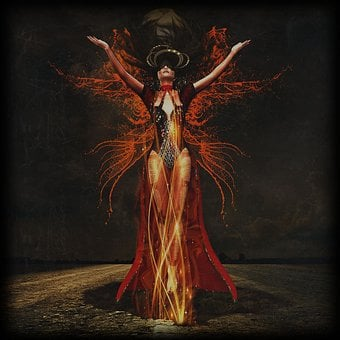 Woman, The Witch, Transformation, Night, Mysterious