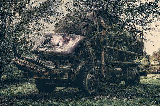 Truck, Scrap, Accident, Total Damage