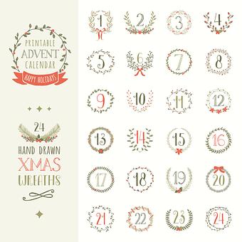 Advent, Advent Calendar, Advent Calendar Printable