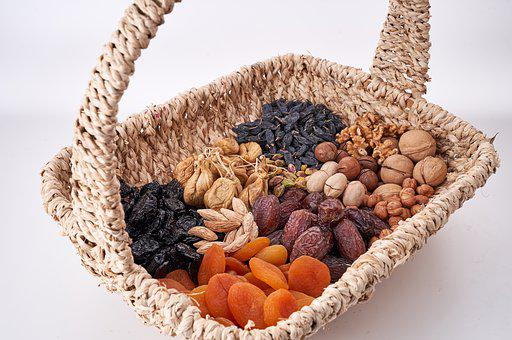 Nuts Basket, Nuts, Dried Fruits, Pecan, Almond