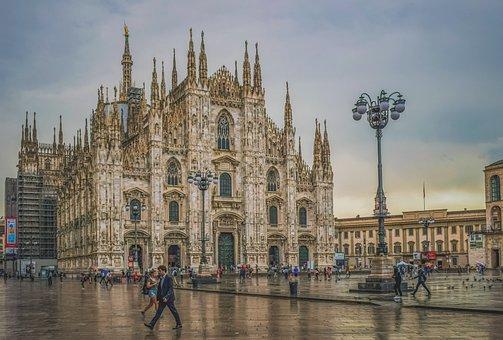 Italy, Milano, Duomo Square, Architecture, Church
