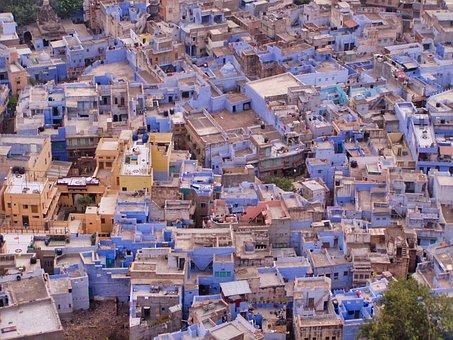 Jodhpur, Blue City, Rajasthan, India, Building
