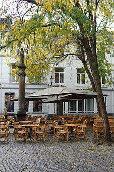 Maastricht, Square, Cafe, Chairs, Tables, Outdoors