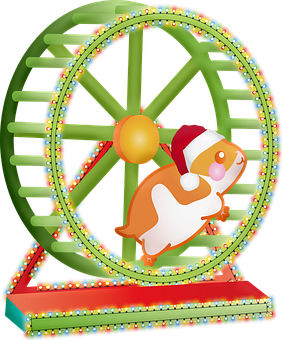 Christmas Animals, Hamster, Hamster Wheel