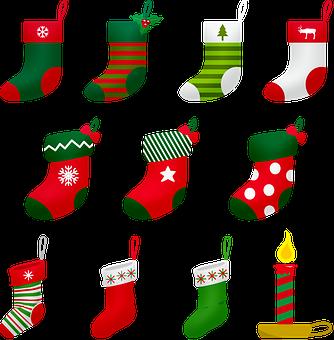 Christmas Stocking, Christmas Candle, Christmas, Advent