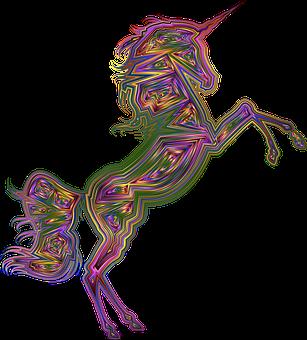 Unicorn, Horse, Animal, Colorful, Prismatic, Chromatic