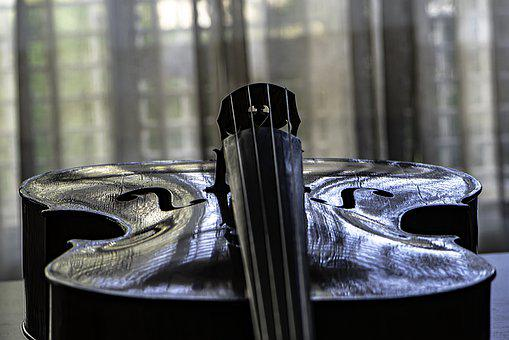 Cello, Strings, Classic, Musical Instrument, Reflection