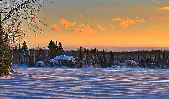 Landscape, Nature, Winter, Sky, Clouds, Colors, Snow