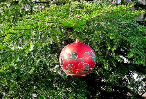 Bauble, Christmas, Red, Decoration, Christmas Tree