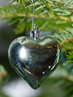 Christmas, Heart, Decoration, Christmas Ball, Fir
