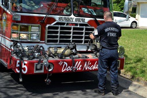 Fireman, Firetruck, Firefighter, Emergency