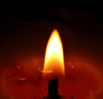 Candle, Red, Dark, Advent, Decoration, Christmas, Flame