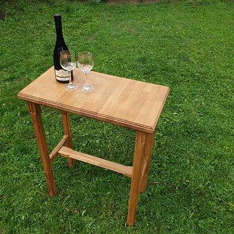 Desk, Wine, Lawn, Peace, Wood, Alcohol, Furniture