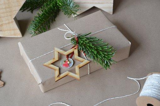 Christmas, Gift, Packaging, Loop, Packed, Festive, Star