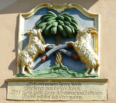 Naumburg, Goat, Shield, Relief, Tree, Saxony-anhalt
