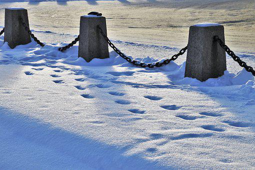Winter, Railings, Snow, Glow, In The Evening, Mood, Icy