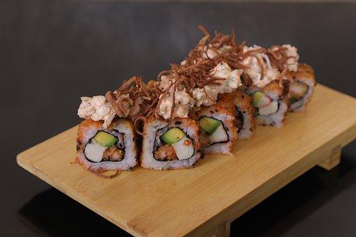 Sushi, Food, Fish, Seafood, Japan, Plate, Healthy