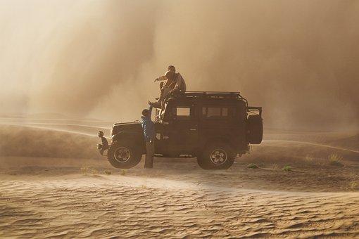 Desert, Storm Sandy, Adventure, Light
