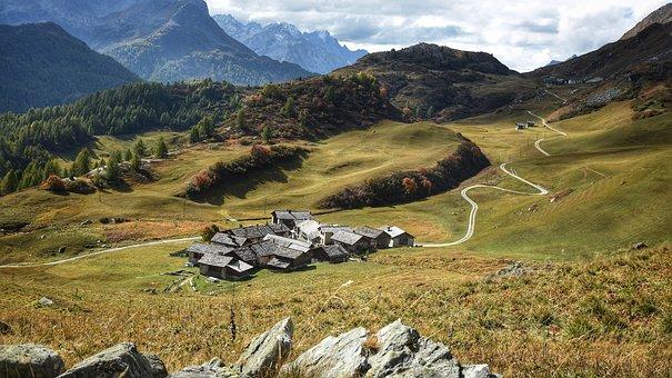 Bergdorf, Alm, Landscape, Destination, Migratory Goal