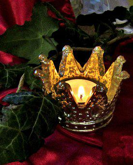 Crown, Candle, Candle Holders, Tealight, Ivy, Mood