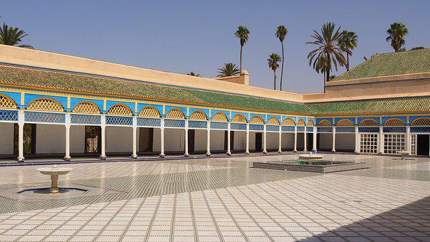 Morocco, Palace, Marrakech, Arabic, Architecture, Old