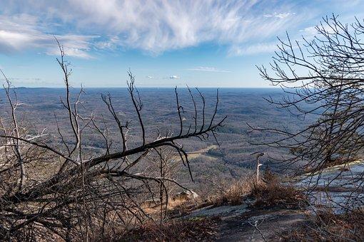 Mountain, View, Table Rock, South Carolina, Nature