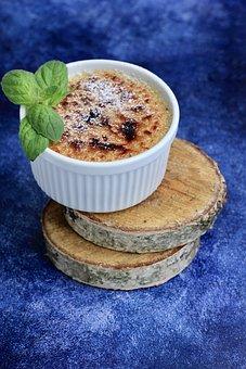 Creme Brulee, Creamy, Food, Nutrition, Dessert, Dish