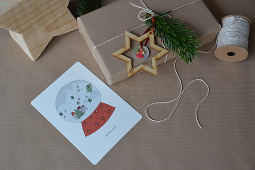 Christmas, Gift, Packaging, Loop, Packed, Festive, Star