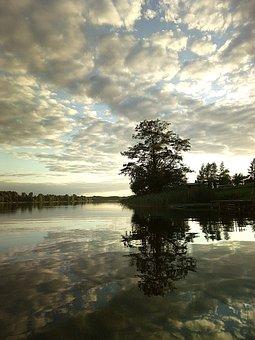 Twilight, Lake, Pond, Water, Sky, Landscape, Reflection