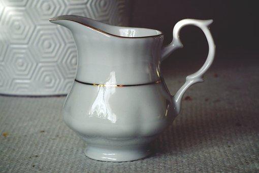 Dzbanuszek, Decorative, Porcelain, Nice, White