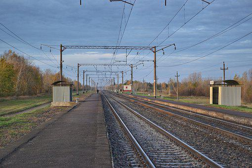 Railway, Russia, Belarus, Morning, Train, Ukraine