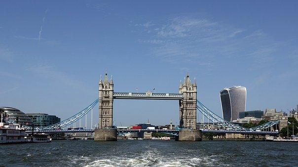 London, River Thames, England, Bridge, United Kingdom