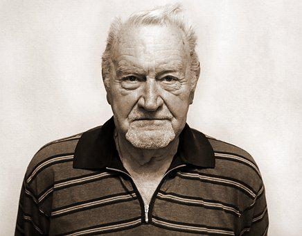 Portrait, Man, Old, Age, Person, Beard, Short, Hair
