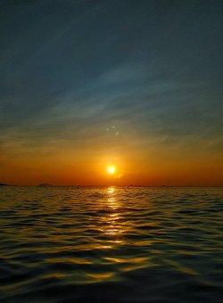 Sky, Horizon, Sea, Ocean, Sunshine, Sunset, Vietnam