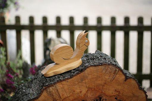 Wood, Snail, Garden, Carving, Figure