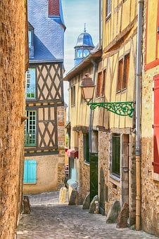Lane, France, Architecture, Street, Colored