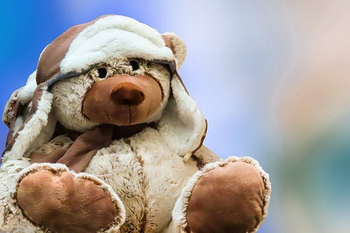 Craft, Figure, Teddy, Bear, Stuffed Animal, Cap, Toys