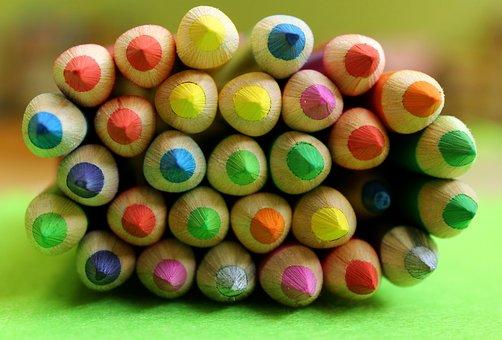 Crayons, To Draw, Colored, Fun, Wood, Creative