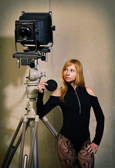Camera, Phototechnique, Photographer, Retro, Vintage